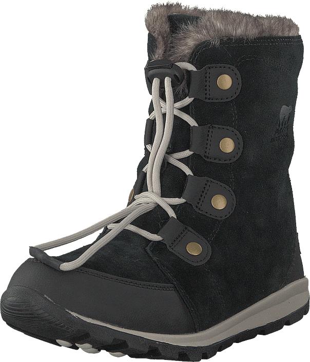 Sorel Youth Whitney Suede 010, Black, Dark Stone, Kengät, Bootsit, Lämminvuoriset kengät, Harmaa, Musta, Unisex, 37
