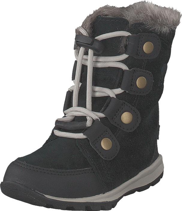 Sorel Youth Whitney Suede 010, Black, Dark Stone, Kengät, Bootsit, Lämminvuoriset kengät, Harmaa, Unisex, 28