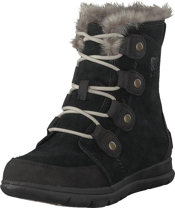 Sorel Sorel Explorer Joan 010, Black, Dark Stone, Kengät, Bootsit, Lämminvuoriset kengät, Musta, Naiset, 39