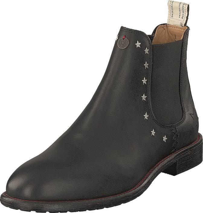 Odd Molly Mollyhood Low Leather Almost Black, Kengät, Bootsit, Chelsea boots, Harmaa, Naiset, 39