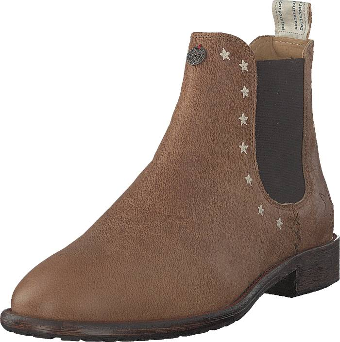 Odd Molly Mollyhood Low Leather Brown, Kengät, Bootsit, Chelsea boots, Ruskea, Naiset, 38