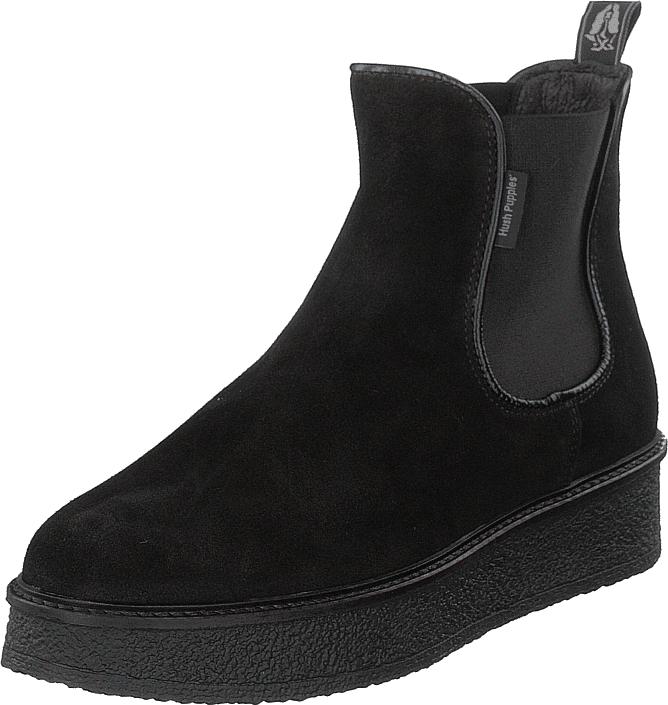 Hush Puppies Vedge Chelsea Mock Black, Kengät, Bootsit, Chelsea boots, Musta, Naiset, 39