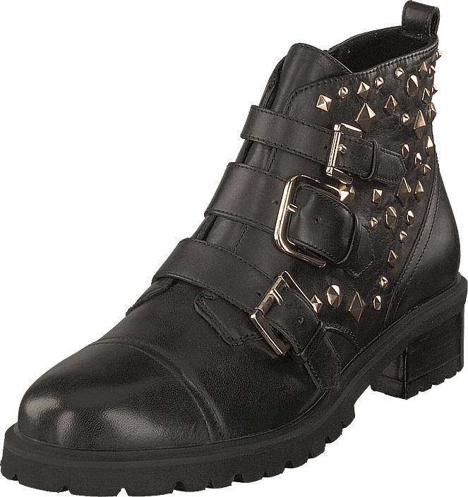 Steve Madden Sparkie Black Leather, Kengät, Bootsit, Chelsea boots, Ruskea, Harmaa, Naiset, 36