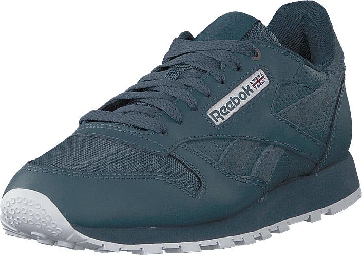 Reebok Classic Cl Leather Mu Deep Sea/mt Fuji/whit, Kengät, Sneakerit ja urheilukengät, Sneakerit, Sininen, Miehet, 42