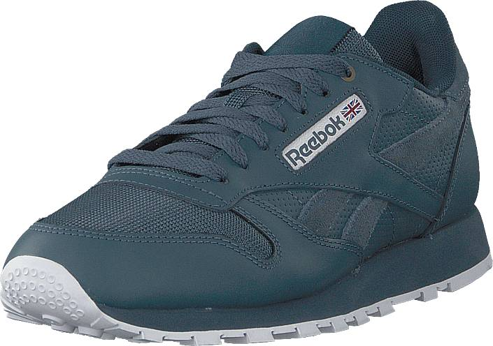 Reebok Classic Cl Leather Mu Deep Sea/mt Fuji/whit, Kengät, Sneakerit ja urheilukengät, Sneakerit, Sininen, Miehet, 43