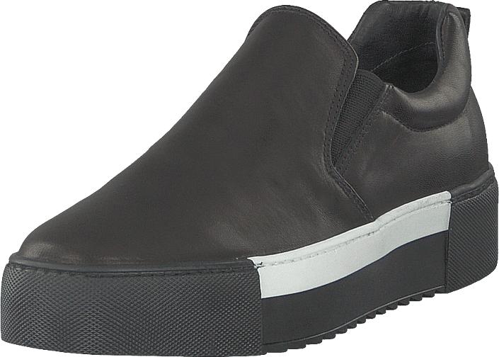 A Pair Classic Slip On White Detail Parma Nero, Kengät, Matalapohjaiset kengät, Kävelykengät, Harmaa, Naiset, 41