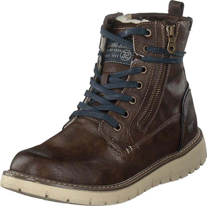 Mustang Schnür-boot Dunkelbraun, Kengät, Bootsit, Korkeavartiset bootsit, Ruskea, Miehet, 44