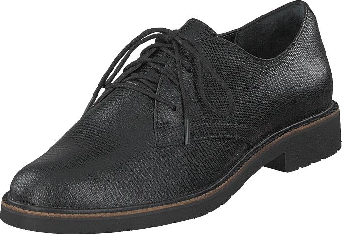 Rockport Tm Abelle Laceup Black Met Snake, Kengät, Matalapohjaiset kengät, Juhlakengät, Harmaa, Musta, Naiset, 36