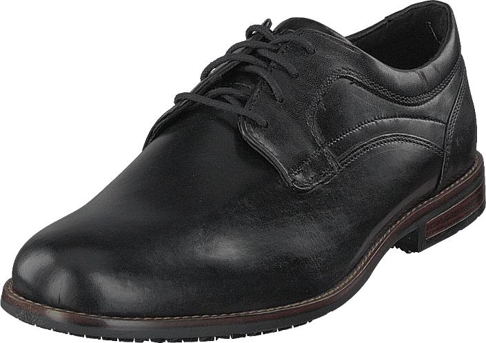 Rockport Dustyn Plain Toe Black, Kengät, Matalapohjaiset kengät, Juhlakengät, Musta, Miehet, 42