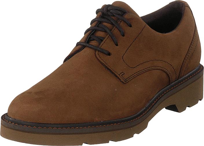 Rockport Charlee Plain Toe Tawny Nbk, Kengät, Matalapohjaiset kengät, Juhlakengät, Ruskea, Miehet, 41