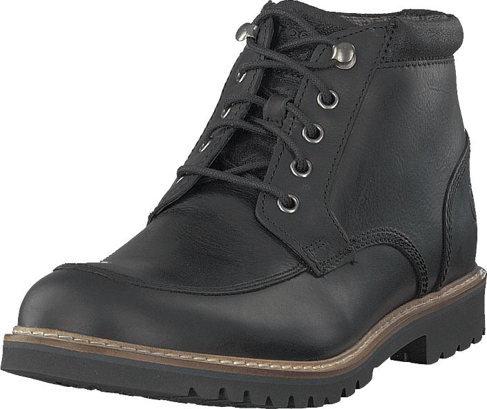 Rockport Marshall R Moc Toe Black, Kengät, Bootsit, Kengät, Harmaa, Musta, Miehet, 43
