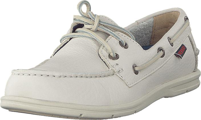 Sebago Litesides Two Eye White Tumbled Leather, Kengät, Matalapohjaiset kengät, Purjehduskengät, Valkoinen, Naiset, 35