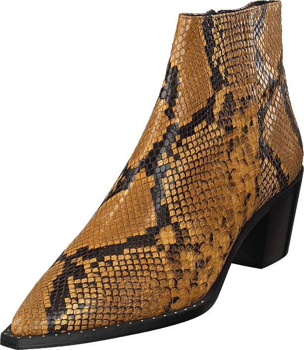 Gardenia Madrid Snake Yellow, Kengät, Saappaat ja saapikkaat, Nilkkurit, Ruskea, Naiset, 36