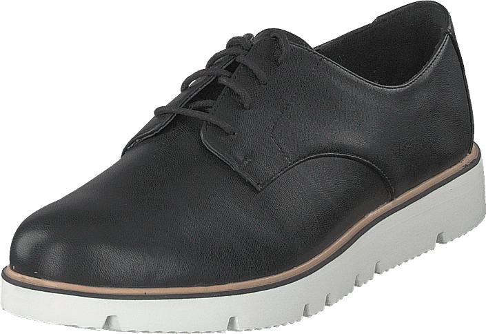Bianco Bita Derby Laced Up Shoe 100 - Black, Kengät, Matalapohjaiset kengät, Kangaskengät, Musta, Naiset, 40