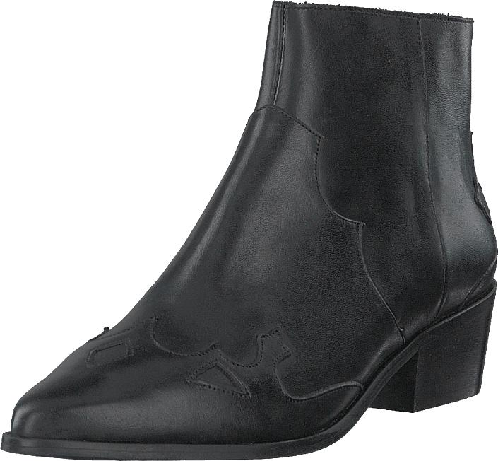 Bianco Bismil Western Leather Boot 100 - Black, Kengät, Saappaat ja saapikkaat, Nilkkurit, Ruskea, Naiset, 37