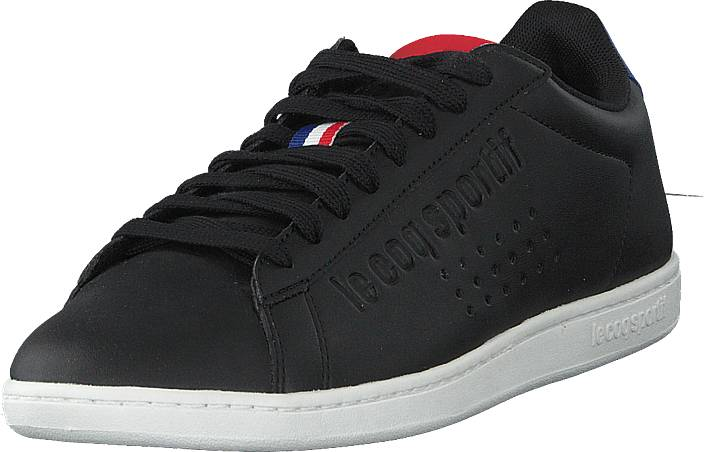 Le Coq Sportif Courtset S Leather Black / Cobalt, Kengät, Sneakerit ja urheilukengät, Varrettomat tennarit, Musta, Unisex, 45