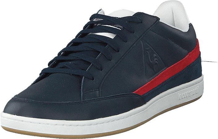 Le Coq Sportif Courtclay Leather Suede Dress Blue / Pure Red, Kengät, Sneakerit ja urheilukengät, Varrettomat tennarit, Sininen, Miehet, 42