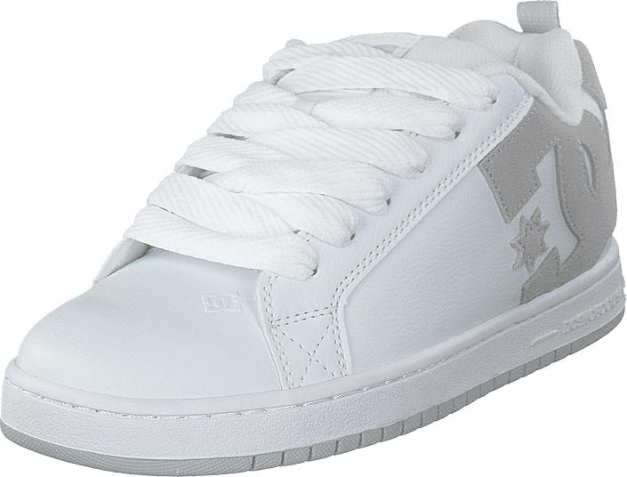 DC Shoes Court Graffik White/grey/grey, Kengät, Sneakerit ja urheilukengät, Varrettomat tennarit, Valkoinen, Miehet, 42