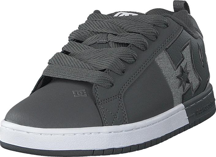 DC Shoes Court Graffik Sq Pewter, Kengät, Sneakerit ja urheilukengät, Varrettomat tennarit, Harmaa, Miehet, 43