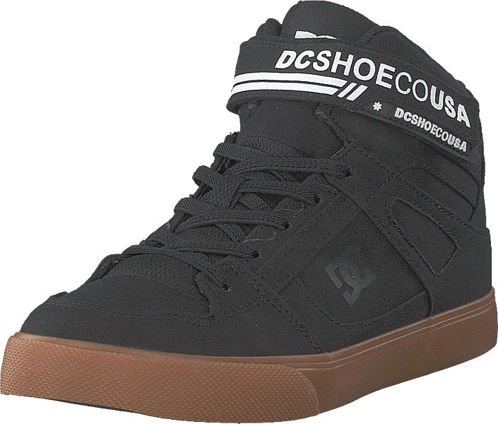 DC Shoes Pure High.top Tx Ev Black/white/gum, Kengät, Sneakerit ja urheilukengät, Korkeavartiset tennarit, Harmaa, Musta, Unisex, 33