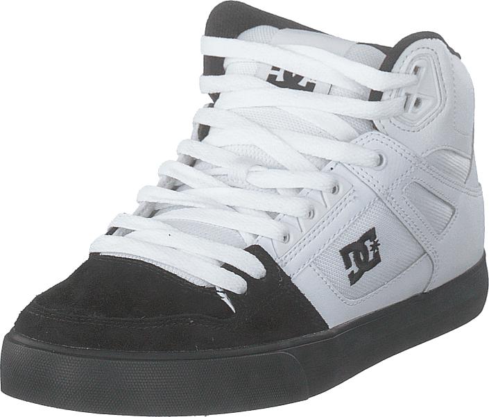 DC Shoes Pure High-top  Wc White/black, Kengät, Sneakerit ja urheilukengät, Korkeavartiset tennarit, Valkoinen, Miehet, 45