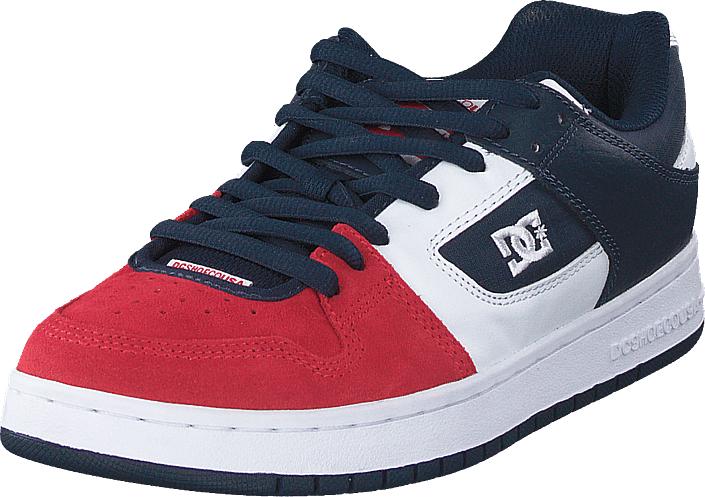 DC Shoes Manteca White/navy/red, Kengät, Sneakerit ja urheilukengät, Sneakerit, Sininen, Miehet, 40