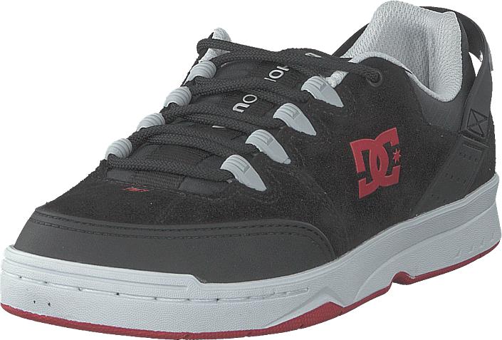 DC Shoes Syntax Black/grey/red, Kengät, Sneakerit ja urheilukengät, Varrettomat tennarit, Harmaa, Musta, Miehet, 45