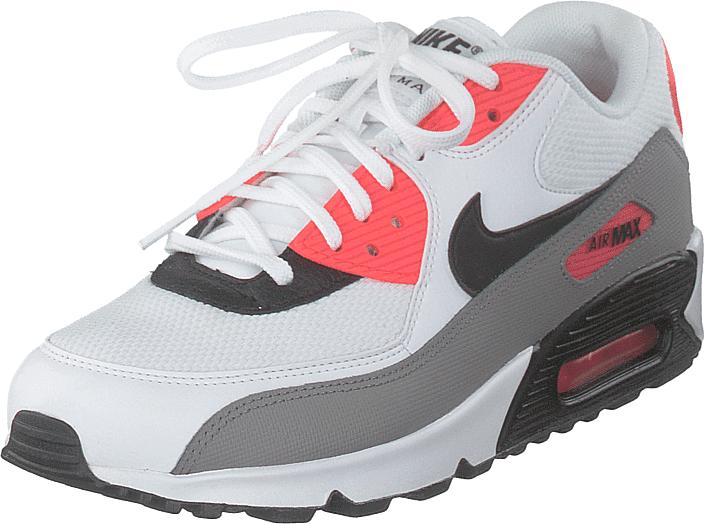 Nike Wmns Air Max 90 White/black/dust-solar Red, Kengät, Sneakerit ja urheilukengät, Sneakerit, Harmaa, Naiset, 36