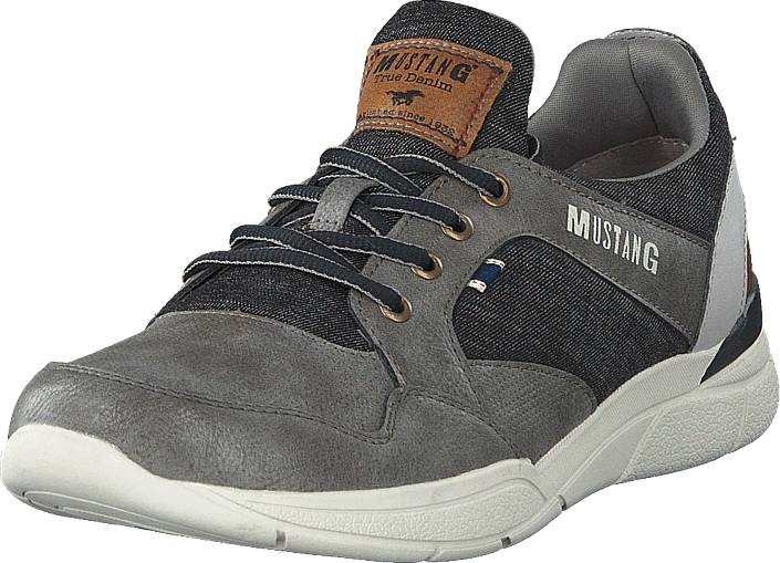 Mustang 4138301 2 Grau, Kengät, Sneakerit ja urheilukengät, Sneakerit, Harmaa, Miehet, 44