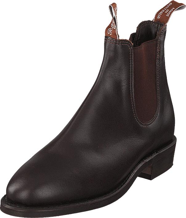 RM Williams Adelaide Rubber Sole (G Fit) Dark Tan, Kengät, Bootsit, Chelsea boots, Ruskea, Harmaa, Naiset, 35