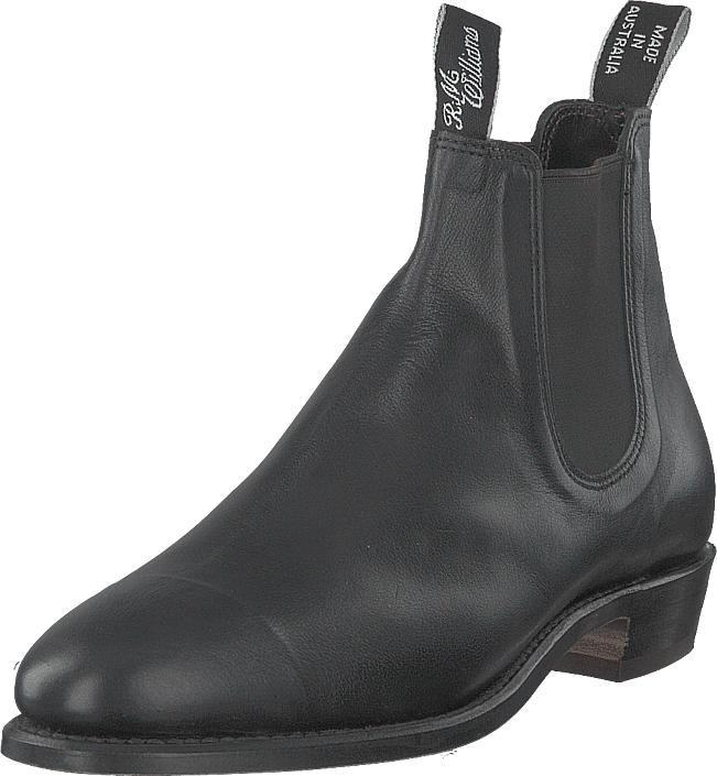 RM Williams Kangaroo Adelaide (g Fit) Black, Kengät, Bootsit, Chelsea boots, Musta, Naiset, 35