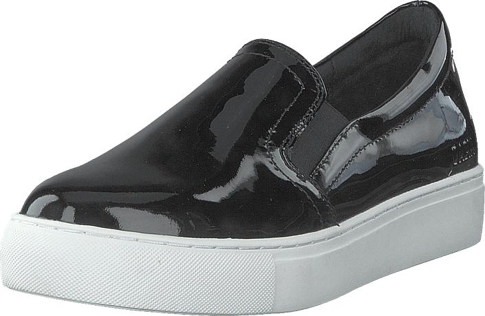 Dasia Starlily Black Patent, Kengät, Matalapohjaiset kengät, Slip on, Musta, Naiset, 40