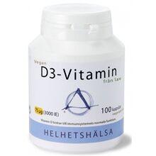 Helhetshälsa D3-vitamin Vegan 75 mcg 3000IE 100 kapselia