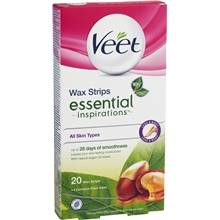 Veet Legs & Body Wax Strips Essential Inspirations 20 kpl/paketti