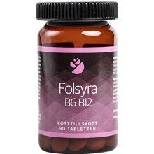 Bringwell Folsyra B6 B12 90 tablettia