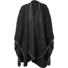 Nightingale Poncho Musta