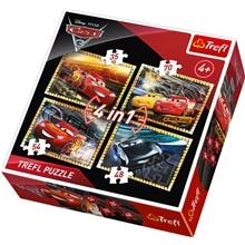 Trefl Palapeli 4 in 1 - Cars3 Ready to Race