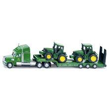 Siku Kuorma-auto kahdella JD Traktorilla 1:87