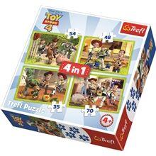 Trefl Palapeli 4-in-1 Toy Story 4: Toy Team