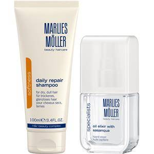 Marlies Möller Beauty Haircare Softness Gift set Daily Repair Shampoo 100 ml + Oil Elixir with Sasanqua 50 ml 1 Stk.