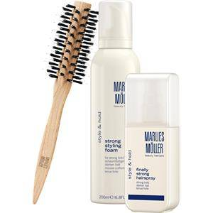 Marlies Möller Beauty Haircare Joulusetit Style & Hold Set Strong Styling Foam 200 ml + Finally Strong Hair Spray 125 ml + Medium Round Brush 1 Stk.