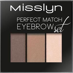 Misslyn Silmät Kulmakarvat Perfect Match Eyebrow Set Nr. 2 Macchiato Shades 1,20 g