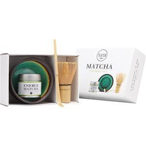 Teatox Tee Matcha Energy Matcha Ceremonie Set Energy Matcha -tee 30 g + Matcha-kulho + Matcha-luuta + Matcha-lusikka Energy Matcha -seremoniasetti = Energy Matcha -tee 30 g + Matcha-kulho + Matcha-luuta + Matcha-lusikka 1 Stk.