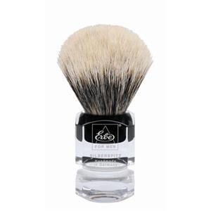 ERBE Shaving Shop Parranajosivellin Partasuti hopea kärki, muovikahva neliö Pieni 1 Stk.