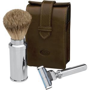 ERBE Shaving Shop Parranajosetit Höyläsetti nahkapussissa, Gillette Mach3 musta 1 Stk.