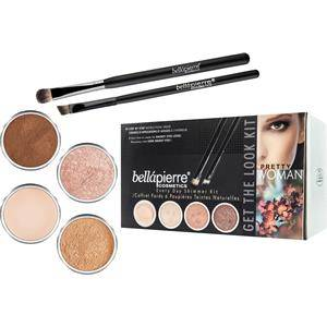 Bellápierre Cosmetics Meikit Setit Pretty Woman Get the Look Kit Pretty Woman: Shimmer Powder Champagne 2,35 g + Shimmer Powder Earth 2,35 g+ Shimmer Powder Cocoa 2,35 g + Mineral Makeup Base 8,5 g + Liner Brush + Oval Eyeshadow Brush 1 Stk.