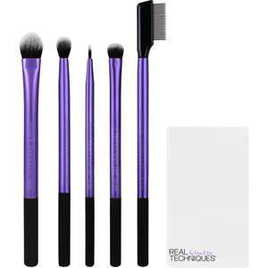 Real Techniques Original Collection Eyes Enhanced Eye Set Medium Shadow Brush + Essential Crease Brush + Fine Liner Brush + Shading Brush + Lash Separator + Brush Cup 1 Stk.