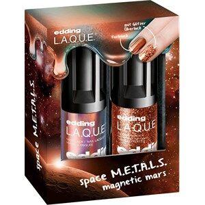 edding Meikit Kynnet Magnetic M.A.R.S. Set Nail Lacquer Magnetic Mars 8 ml + Glitter Top Coat Supreme Stardust 8 ml 1 Stk.