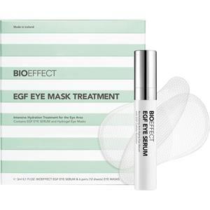 BioEffect Anti-Aging-hoito Kasvohoito EGF Eye Mask Treatment Set EGF Eye Serum 3 ml + Eye Mask 12 Pads 1 Stk.