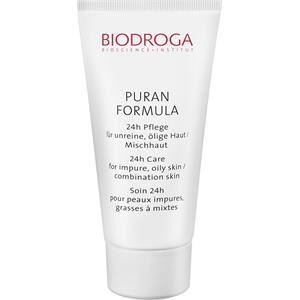 Biodroga Kasvohoito Puran Formula 24h hoito epäpuhtaalle, öljyisälle iholle/sekaiholle 40 ml